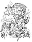 chinese dragon coloring free printable coloring pages