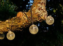 solar powered outdoor string lights for the christmas holidays