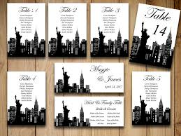 themed table numbers diy wedding seating chart template new york wedding travel