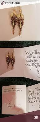 michael richardson earrings pair of new kelli design foil lucite earrings a pair of never worn