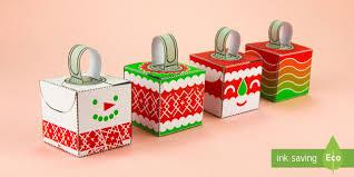 simple 3d block baubles christmas decoration activity paper
