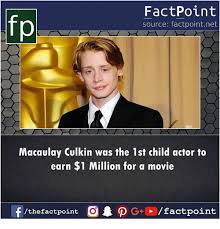Macaulay Culkin Memes - fp factpoint source factpointnet macaulay culkin was the 1st child