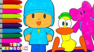 pocoyo coloring book pages pato elly loula colors preschool kids