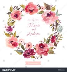 wedding wreath floral wedding wreath wreath roses leaves stock vector 650670169