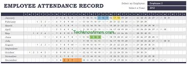 Attendance Sheet Template Excel Attendance Tracker Excel Template