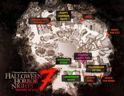 halloween horror nights hollywood map halloween horror nights 7 revealed dejiki com