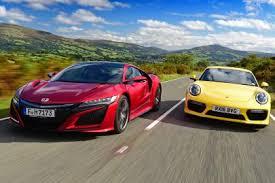 vs porsche 911 turbo honda nsx vs porsche 911 turbo auto express