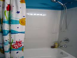 bathroom attractive sea world shower curtain design in a simple