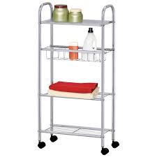 Narrow Kitchen Cart by Slim Storage Cart 4 Tier Trolley Metal Multipurpose Bathroom Small