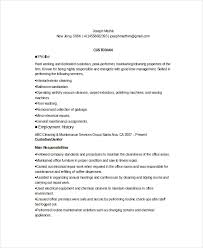 Sample Resume For Janitor by Custodian Resume Template 6 Free Word Pdf Documents Download