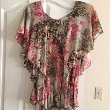 69 off dress barn tops plus size chiffon flowing blouse from