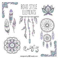 sketches dreamcatcher and boho elements vector free download