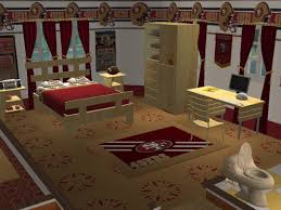 49ers Bed Set Mod The Sims Sanfransisco 49ers Bedroom Requested By Maddogg59