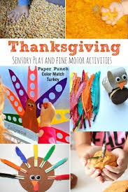 thanksgiving sensory play and motor activities motor