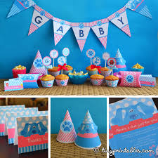 pink blues clues party printables girls