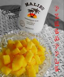 coconut rum soaked pineapple to snack on by the pool yum why