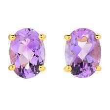amethyst stud earrings gemporia choice of shape moroccan amethyst stud earrings