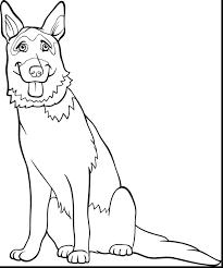 german shepherd coloring pages printable dog legend saint page
