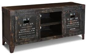 reclaimed wood graffiti tv stand entertainment console