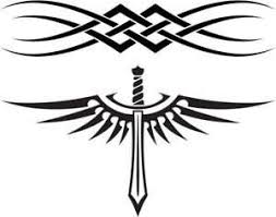 black tribal band tattoos designs for men