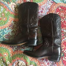 womens cowboy boots in size 12 90 acme shoes brown vintage acme cowboy boots from