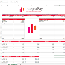 break even analysis template download integrapay