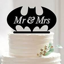batman wedding cake toppers the mr and mrs batman