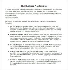 business plan template sba doc templates resume examples