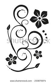 floral ornament stock vector 233075074