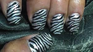 sparkly zebra print nail art youtube