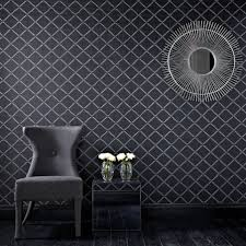impressive black and white wallpaper designs for walls clean black