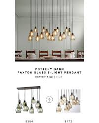 Pottery Barn Ceiling Light Pottery Barn Paxton Glass 8 Light Pendant Copycatchic