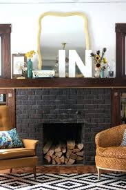 black fireplace mantel images brick facade painted mantels kits