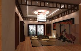 typical japanese bedroom light wood platform bed sloping ceiling