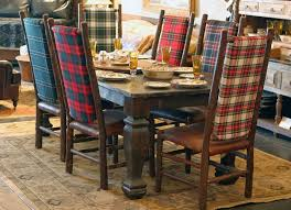 living room with ottoman plaid chairs fl plaid dining chairs