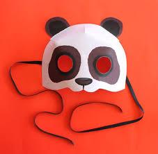 print paper panda mask animal mask diy homemade costume ideas