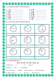 telling the time worksheet free esl printable worksheets made by