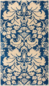 Toile Rugs Sydney Damask Toile Navy Blue 2114 Well Woven