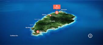 Give Me A Map Of Florida by Map Of St Lucia St Lucia Map Caribbean St James U0027s Club Morgan Bay