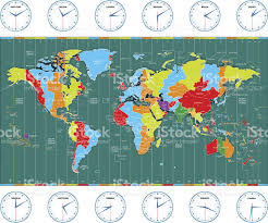 European Time Zone Map by Vector World Time Zones Stock Vector Art 465703723 Istock