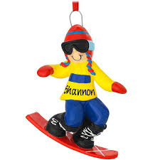 personalized snowboard ornament sports ornaments