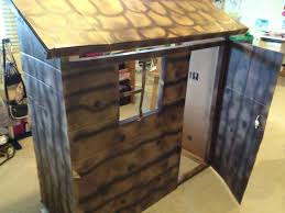 diy western log cabin play house