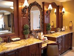 bathroom set ideas with traditional double cabinet with marble on
