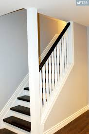 Cheap Banister Ideas Stair Finished Basement Ideas On A Budget Basement Stair Ideas