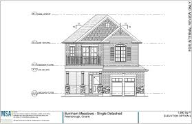 single family homes safe harbour developments inc elevation option 3 single family home the nottawasaga floor plans