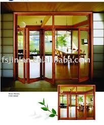 european folding solid wooden partition doors patio doors view
