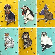 halloween cat enamel pins by danielle v green u2014 kickstarter