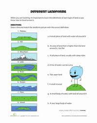 different landforms worksheet education com