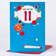11th birthday card boy things only 59p