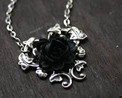 black rose necklace images Black rose necklace gothic steampunk necklace jpg